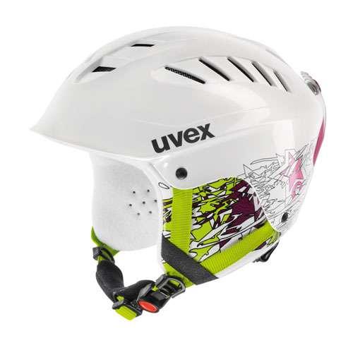 Dětská lyžařská helma Uvex X-RIDE JUNIOR MOTION bílá s brýlemi 1x použité zboží