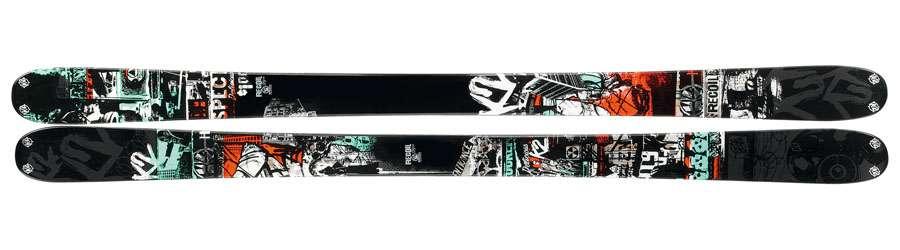 Lyže K2 RECOIL 2011/12 + Marker Squire 11.0 Schizo - poštovné 0,-