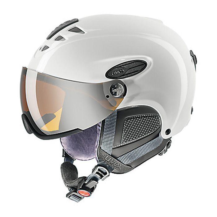 Lyžařská helma Uvex HLMT 300 VISOR doprava 0,- bílá
