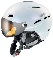 Lyžařská helma Uvex HLMT 200 VISOR doprava 0,- bílá pearlescent mat
