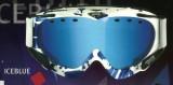 Lyžařské brýle Uvex APACHE COLORFUSION brýle na lyže, snowboard - Bílo-modré (iceblue) zorník modrý zrcadlový ...
