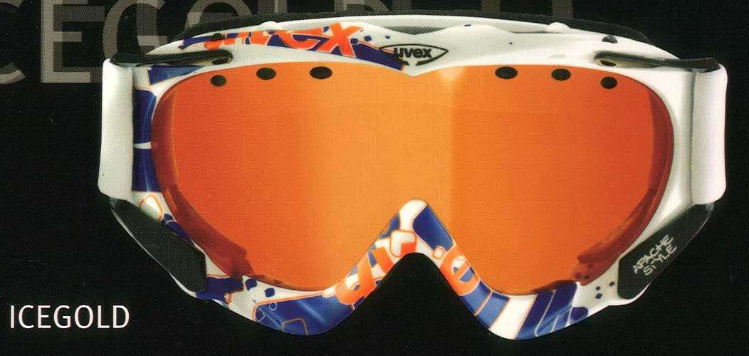 Lyžařské brýle Uvex APACHE COLORFUSION brýle na lyže, snowboard - Bílo-modro-oranž (icegold) zorník oranž zrcadlocvý...