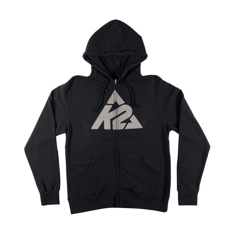 Mikina K2 HOOD ZIP LOGO černá K2 Corporation