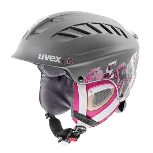 UVEX X-RIDE MOTION GRAPHICS šedo-růžová lyžařská helma