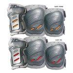 COOL MAX 3 sada chráničů kolen,loktů a zápěstí silver/ orange XL