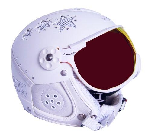 Karbonová se štítem HMR H3 Swarovski white star + štít VTM006