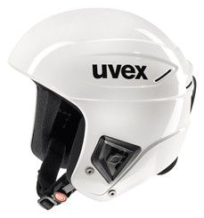 Závodní lyžařská helma Uvex RACE+ all white doprava 0,-