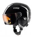 Uvex JUNIOR VISOR - dětská / juniorská lyžařská helma se štítem white-turqouise