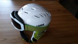 UVEX X-RIDE JR MOTION bílá - dětská / juniorská přilba s brýlemi - 1x použité zboží