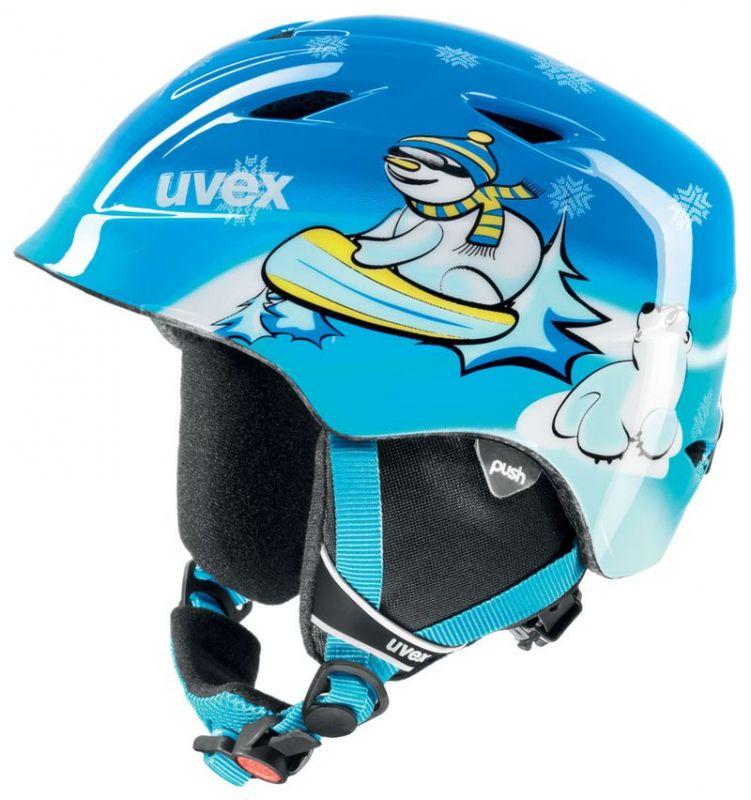 helma UVEX AIRWING 2, blue snowman (S566132240*) UVEX ZIMNÍ