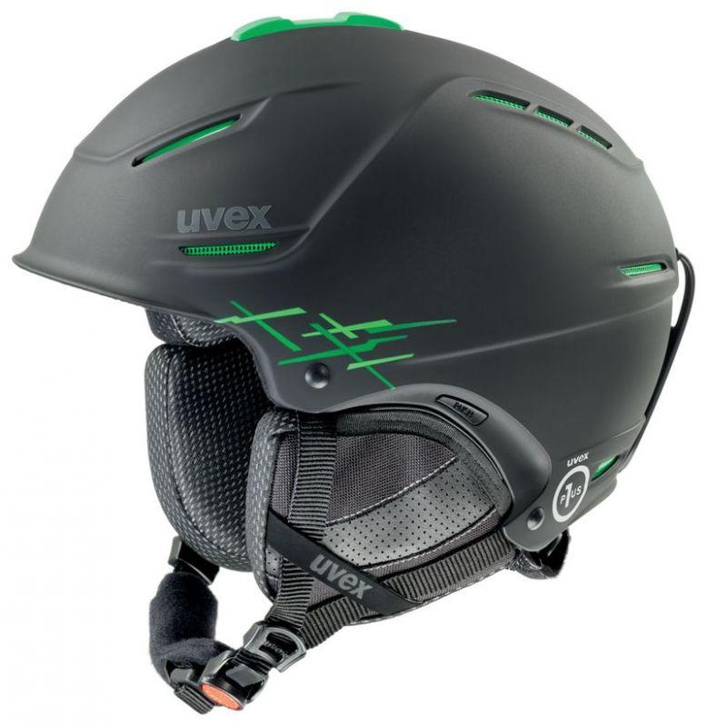 helma UVEX P1US PRO, black-green mat (S566156270*) UVEX ZIMNÍ