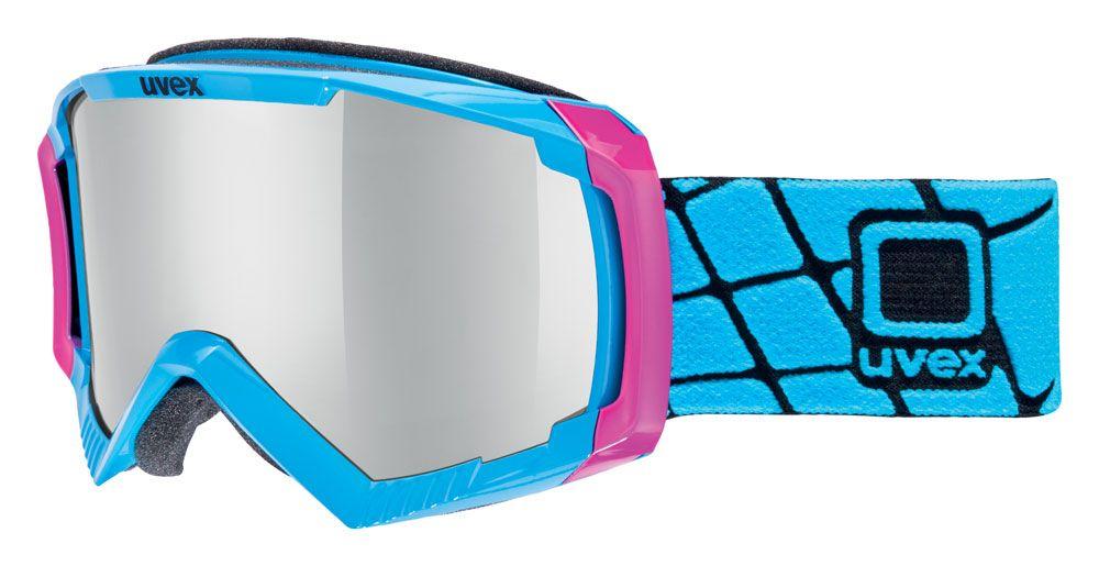 lyžařské brýle UVEX APACHE II, cyan pink/litemirror silver (4026) UVEX ZIMNÍ