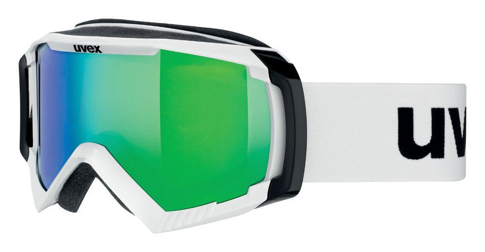lyžařské brýle UVEX APACHE II, polarwhite/litemirror green (1126) UVEX ZIMNÍ