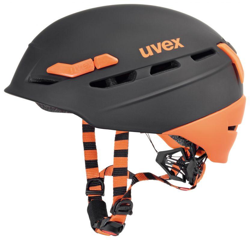 Lyžařská / cyklohelma Uvex P.8000 TOUR, black-orange mat (S566204280*) UVEX ZIMNÍ