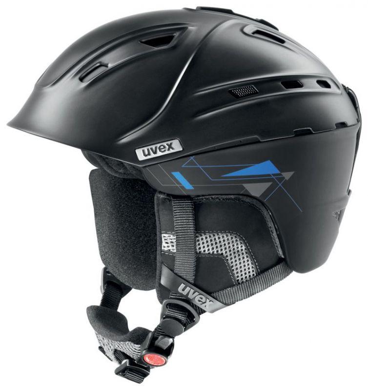 helma UVEX P2US, black mat (S566178200*) UVEX ZIMNÍ