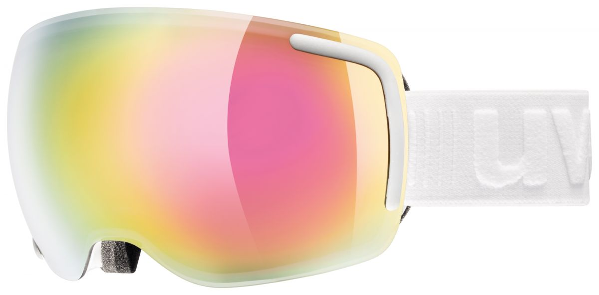 lyžařské brýle UVEX BIG 40 FM, white mat double lens/full mirror pink (1026) UVEX ZIMNÍ
