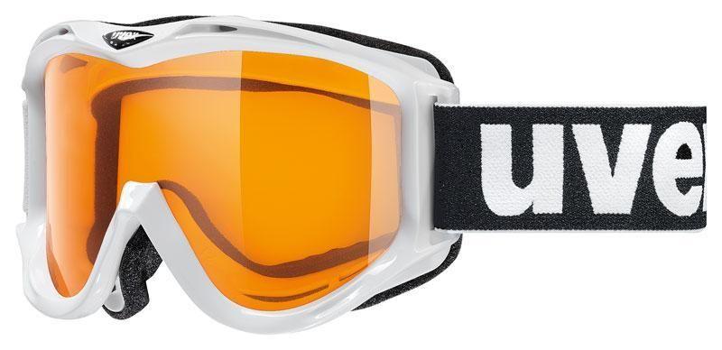 lyžařské brýle UVEX FP 501 RACE, white single lens/goldlite (1019) UVEX ZIMNÍ