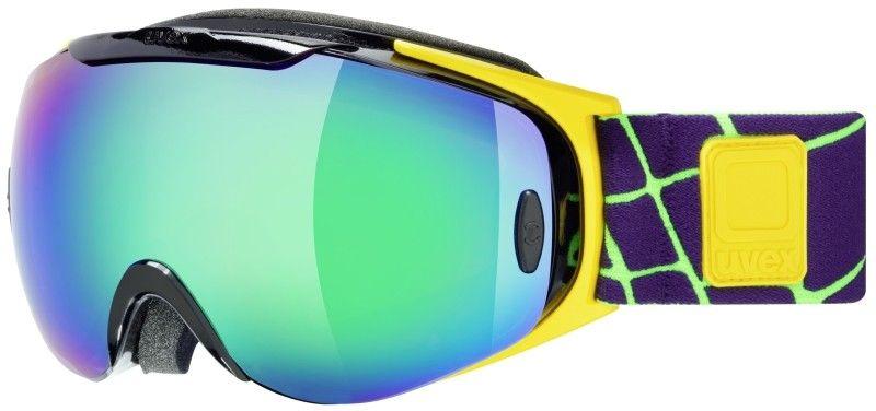 lyžařské brýle UVEX G.GL 9 RECON READY, black-yellow/litemirror green (0226) UVEX ZIMNÍ