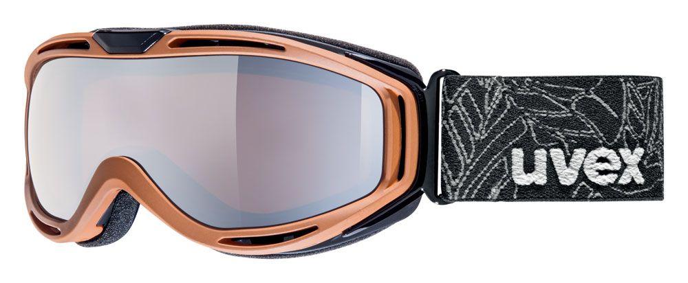 lyžařské brýle UVEX HYPERSONIC, brown mat double lens/litemirror silver/lasergold lite (8026) UVEX ZIMNÍ