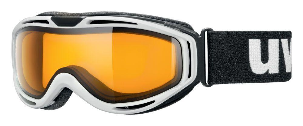 lyžařské brýle UVEX HYPERSONIC PURE, white/lasergold lite (1029) UVEX ZIMNÍ