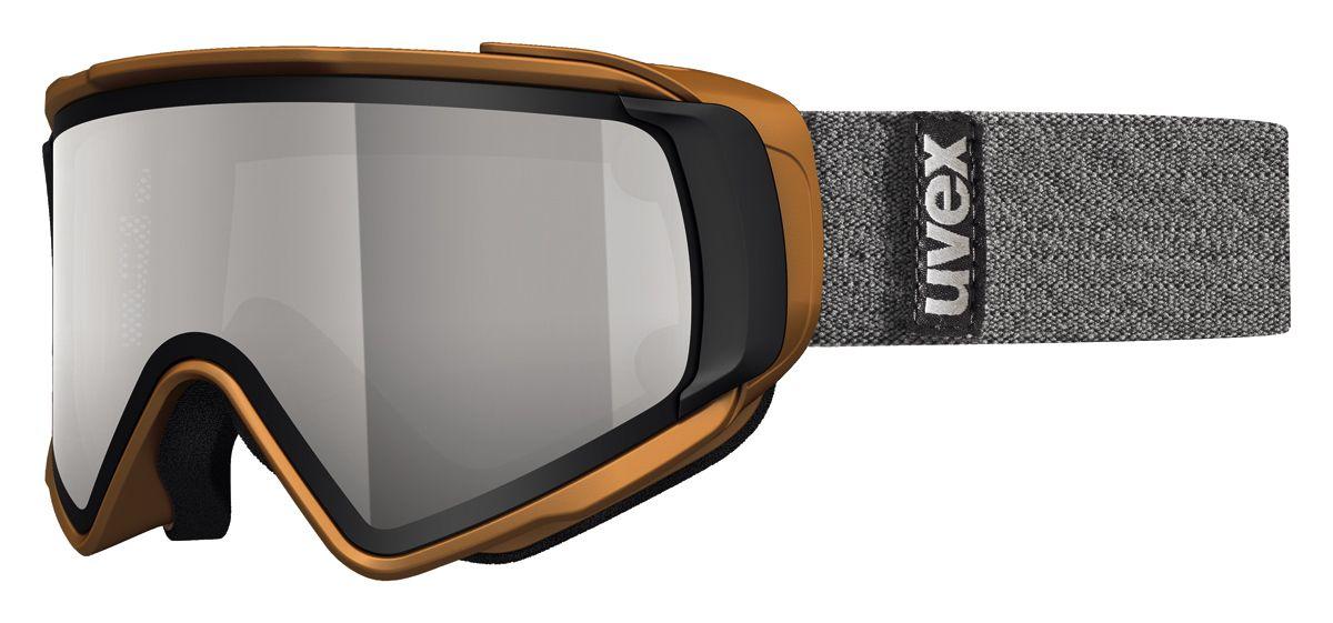 lyžařské brýle UVEX JAKK TAKE OFF POLA, copper mat double lens/polavision litemirror silver/clear (8026) UVEX ZIMNÍ