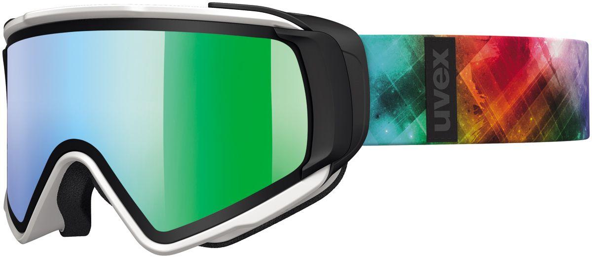 lyžařské brýle UVEX JAKK TAKE OFF, white mat/litemirror green (1226) UVEX ZIMNÍ