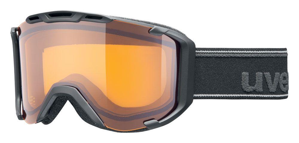 lyžařské brýle UVEX SNOWSTRIKE LGL, black mat double lens/lasegold lite (2029) UVEX ZIMNÍ
