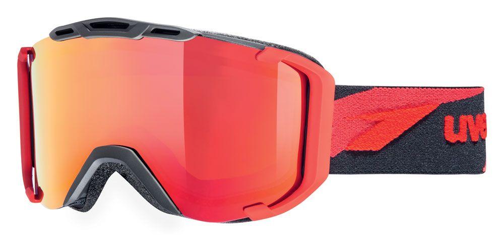 lyžařské brýle UVEX SNOWSTRIKE LTM, black-red mat double lens/litemirror red/lasergold lite (2326) UVEX ZIMNÍ
