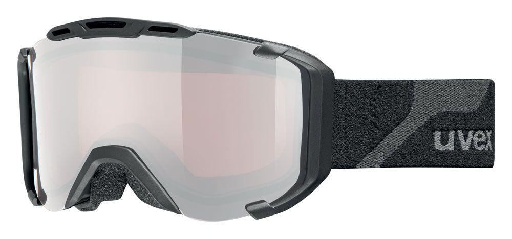 lyžařské brýle UVEX SNOWSTRIKE PM, black mat double lens/polavision litemirror silver/lasergold lite (2026) UVEX ZIMNÍ