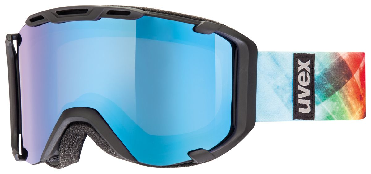 lyžařské brýle UVEX SNOWSTRIKE PM, black mat double lens/polavision litemirror blue/clear (2226) UVEX ZIMNÍ