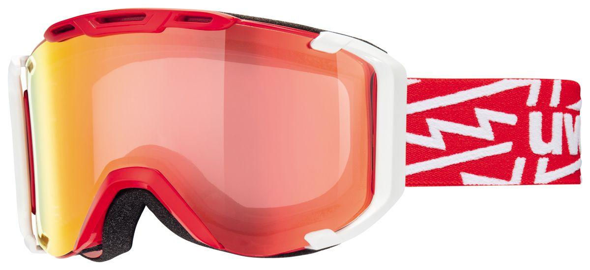 lyžařské brýle UVEX SNOWSTRIKE VM, red-white/variomatic/litemirror red (3023) UVEX ZIMNÍ