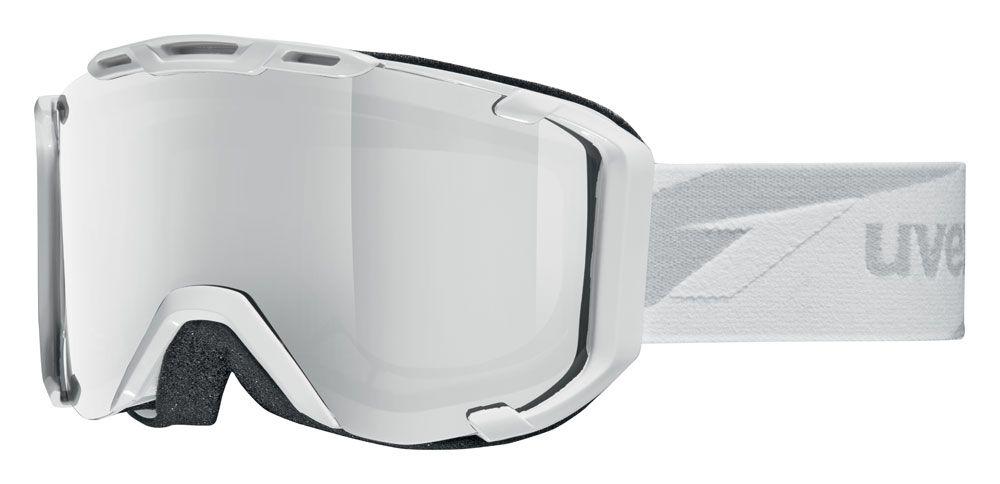 lyžařské brýle UVEX SNOWSTRIKE VM, white/variomatic/litemirror silver (1023) UVEX ZIMNÍ