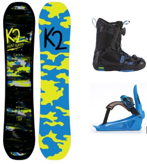 Dětský snb set K2 BOYS GROM PACKAGE Mini Turbo 2017/18 snowboard komplet K2 Corporation