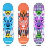 LION skateboard purple